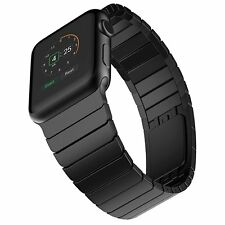 Elobeth Apple Watch Band Stainless Steel Watch Strap Link Bracelet with Butterfl