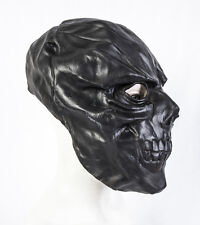 Masque de latex Masque Noir Crâne Halloween Déguisements Prop Costume Squelette Adulte