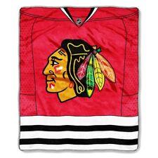 Chicago Blackhawks 50x60 NHL Jersey Design Royal Plush Raschel Throw