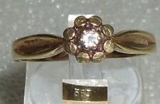 Toller Ring aus 585er Geldbgold, mit Diamant 0,05 ct., Gr. 63 Ø 19,9 mm (da2931)