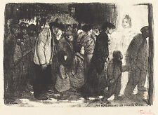 Steinlen Reproduction: To the True Poor: The Wicked Rich - Fine Art Print