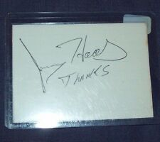 Nhra Owner Jerry Haas Hand Signed Index Card