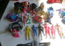 22 piece Lot of Assorted Power Rangers Figures & Vehicles Vintage Lot