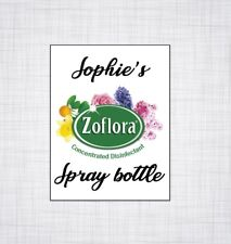 ZOFLORA SPRAY BOTTLE PERSONALISED STICKER MRS HINCH PRODUCTS INSPIRED