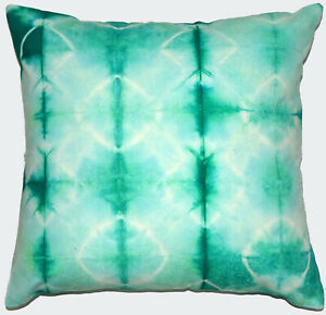 10Pc Wholesale Lot 45x45.Cm Cushion Cover Green Tie Dye Indian Decorative Throw