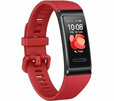 HUAWEI Fitness Band 4 Pro Cinnabar Red Universal Silicone Waterproof - Currys