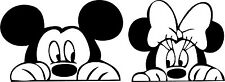 DISNEY MINNIE AND MICKEY MOUSE NOVELTY CUTE FUNNY CAR WINDOW VW STICKER DECAL
