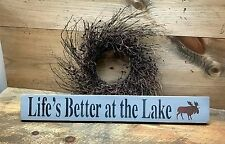 Wooden Summer Sign, Life's Better At The Lake, Lake House Decor, Lake Sign