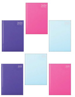 2020 Year Diary A4 / A5 Page A Day & Week To View Fashion Colours Hardback Cover