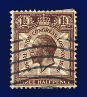 1929 SG436 1½d Purple-Brown PUC NCom7 Fair Used cokb
