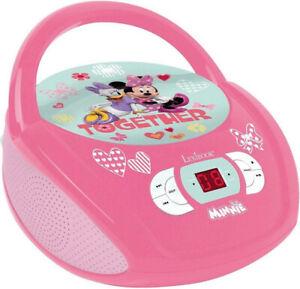 Lexibook RCD108MN Radio CD-Player Minnie für Kinder zum mit singen