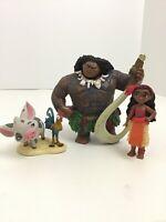 Disney Moana Figures Cake Toppers Maui Moana Lot Of 3 Pieces
