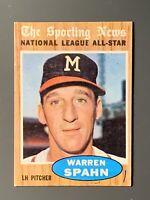1962 Topps National League All-Star #399 Warren Spahn Milwaukee Braves EX (MK)