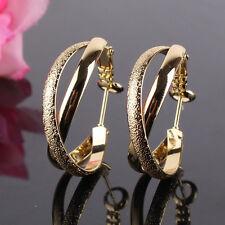 Infinity Elegant woman 14k gold filled lady stylish hoop wedding earring