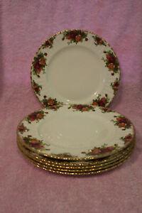 "Royal Albert Dinner Plates X 6 ""Old Country Roses"" Patt."