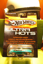 Hotwheels Hot Wheels Die Cast Baby Blue Ultra Hots 1965 65 Mustang Real Tires