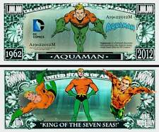 Aquaman Million Dollar Bill Collectible Fake Play Funny Money Novelty Note