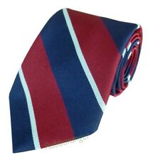 FREE POCKET SQUARE Royal Air Force Regiment Woven Striped Tie RAF Made In GB