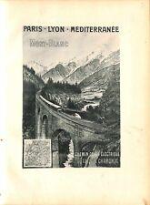 Paris Lyon Méditerranée train du Fayet a Chamonix Mont-Blanc GRAVURE 1902