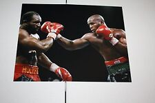 MICHAEL MOORER UNSIGNED 8X10 PHOTO FORMER 3X CHAMPION VS HOLYFIELD POSE 2