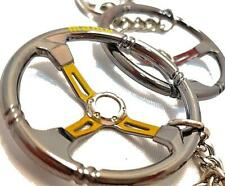 Racing Car Steering Wheel - Mini Keychain Keyring - Momo - Sparco