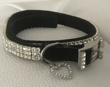 New Rhinestone Sparkly Silver Metal Buckle Bling Dog / Pet Collar