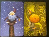 Asmodee - DIXIT - 2 Promo Karten/ Cards - Christmas/ Weihnachten/ Halloween