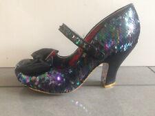 Irregular Choice ''Fancy That'' (D) Black Sequin High Heel Shoes