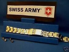 Swiss Army Watch Band Officers Ladies Bracelet Two Tone Stainless Steel Link Ban