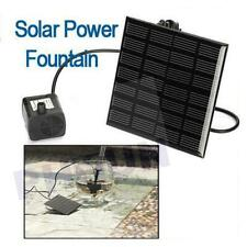 New Solar Fountain Water Pump Panel Garden Pond Pool Submersible Watering Kit