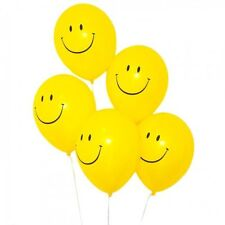 "10 Smiley Face 90s Partys Decorations balloons 12""inch Helium Quality For Easter"