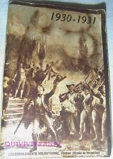 CALENDRIER DU SOLDAT FRANÇAIS 1930-31