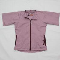 Sunice Womens Golf Small Wind Shirt Jacket Pink Full Zip Water Repellent Rain