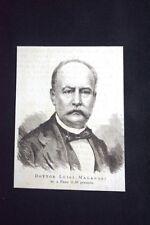 Dottor Luigi Malagodi, morto il 28 gennaio 1876