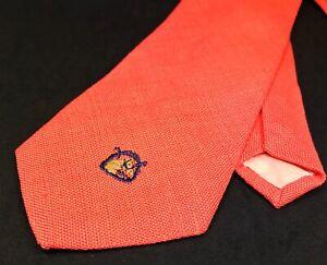 VINTAGE Ralph Lauren 100% Linen Embroidered Equestrian Horse Race Chaps Neck Tie