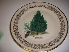 Lenox China Christmas Holiday 1982 Commemorative Issue Plate Aleppo Pine