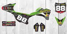 Kawasaki KX85 Splitfire Factory MX GRAPHICS 2001 2015 2016 Custom Motocross kit