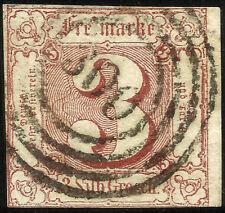 THURN UND TAXIS, 3 SILBERGROSCHEN, 1861, MICHEL # 17, RING CANCELLATION # 300