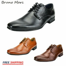 Bruno Marc Men's Dress Shoes Square Toe Lace up Oxford Shoes Casual Shoes
