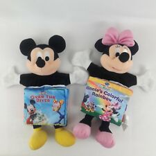 Disneys Mickey Mouse Clubhouse Minnie Cloth Soft Puppet Book Reading Toy Lot