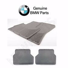 For BMW E53 X5 2000-2006 Set of Front & Rear Rubber Floor Mats Gray GENUINE