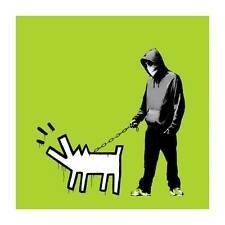 """BANKSY CHOOSE YOUR WEAPON *FRAMED* CANVAS PRINT 20""""X 20""""Poster green"""