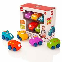 Tippi Monster Movers Soft Play Baby Toy Cars - Toy Car Set For 1 Year Old - Set