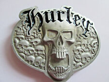 Hurley Skull  Metal Belt Buckle Black Enamel Infil 3D BARGAIN PRICE
