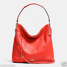 Coach Bag F34511 Pebble Leather Isabelle Shoulder Bag Cardinal Agsbeagle COD