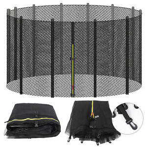 Trampoline Safety Net Replacement For Round Trampoline 10/12/14/16 FT w/ Zipper