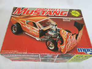 Vintage 1984 MPC Pro Street Mustang plastic model kit 1-0764,  missing parts