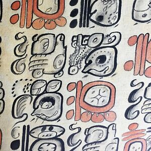 MAYAN PAINTING Mesoamericansymbols signs glyphs typography art Francisco Lopez
