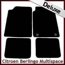 Citroen Berlingo Multispace 1996-2007 2-Clips Tailored LUX 1300g Car Mats BLACK