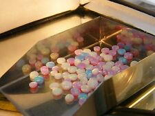 Lab created synthetic WHITE-BLUE-PINK FIRE OPAL ROUND 3.20 mm 9 pieces